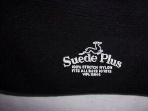 NWT Vintage Dress Socks  Black 100% Stretch Nylon~ d'Orsay' ~ Suede Plus   10-13