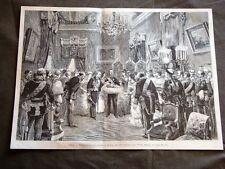 Madrid nel 1880 Presentazione dell'Infanta di Spagna ai Dignitari dello Stato