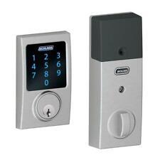 Schlage Century  Connect Smart Door Lock with Alarm Satin Chrome