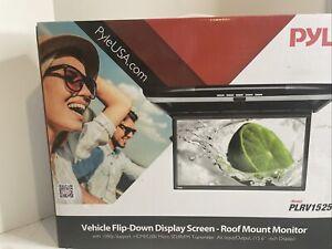 Pyle PLRV1525 Vehicle Flip-Down Roof Mount Monitor, 1080p, HDMI/USB/ Micro SD303
