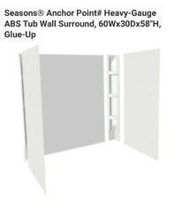 Extra Tall Bath Tub Shower Wall Surround Enclosure White Smooth  New