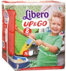 Libero Pannolini Up&G0 Misura 8 Kg 19/30 Offerta 4 Pacchi 64 pezzi