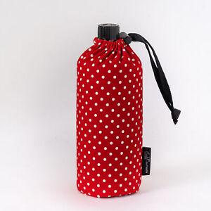 Emil Trinkflasche Glas mit Hülle Rot mit Punkten Bio 0,6l Kinder first class NEU