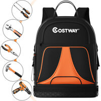 Tradesman Tool Backpack Duty Jobsite Tool Bag 33 Pockets w/ Molded Base