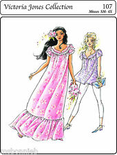 Pullover Petal Sleeve Muumuu & Tunic Top S-4X Victoria Jones Sewing Pattern 107