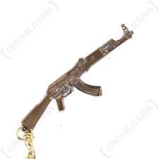 AK47 Rifle Keyring - Key Chain FOB Army Military Gun Soldier Gift Mens Metal New