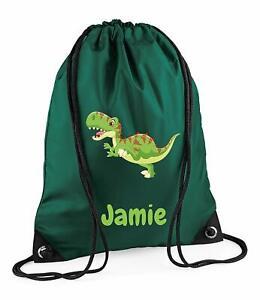 Dinosaur Sports Bag Dinosaur Personalized Drawstring Backpack Personalized Kids Drawstring Bag Dinosaur Backpack