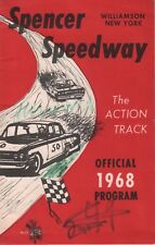 Spencer Speedway Williamson New York 1968 Program 062718DBE