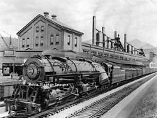 Norfolk & Western 1200 Steam Locomotive Photo  2-6-6-4 N & W Railroad Train