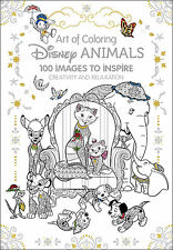 Disney Animals Adult Colouring Book Cats Dogs Lion King Elephants Little Mermaid