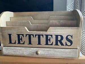 Rustic Wood Letters Holder Rack