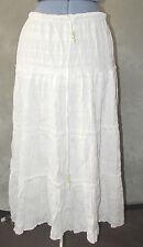 Calf Length Cotton Blend Unbranded Regular Skirts for Women