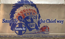 1953 Santa Fe The Chief Way- Vintage Ticket Holder & Ad American Express Cheques