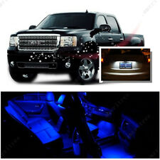 For GMC Sierra 1500 2500 3500 07-13 Blue LED Interior Kit + White License Light