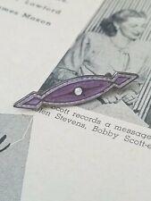 Charles Horner 1918 London Sterling silver purple and white enamel guilloche Art