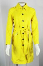 Tory Burch Yellow Trench Belted Coat Jacket Sz 6