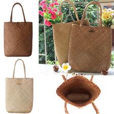 Womens Summer Woven Straw Large Shopper Tote Beach Shoulder Bags Handbags Purse