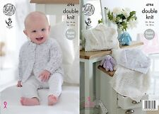 King Cole DK Knitting Pattern 4794:Baby Cardigans & Blanket