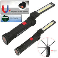 LED+COB Rechargeable Magnetic Torch Flexible Inspection Lamp Cordless Work Light
