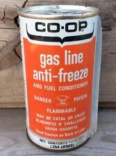 Vintage Co-Op Gas Line Anti-Freeze Tin Can