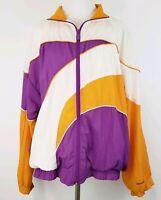 VTG 90's Reebok Lined Full Zip Windbreaker Jacket Women's SZ Lrg Color Block