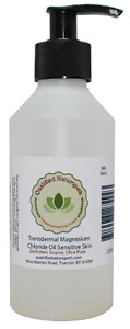 250ml Magnesium Chloride Oil Sensitive Skin with Pump and Lavender essential Oil