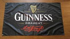 Black Flag Banner for guinness draught beer flag ,Bar promotions flag 3x5 FT