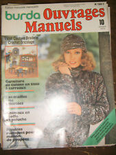 Burda Ouvrages manuels N° 10 octobre 1975 Tricot Peluche Maison poupés Patron