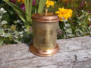 Lovely Vintage Copper & Brass Lined Tea Caddy Storage Tub Ref DR/4