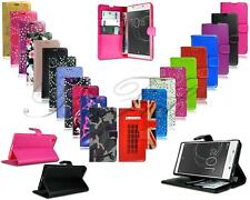 For Sony Xperia L1 L2 L3 New Genuine Black Stylish Leather Wallet Phone Case