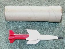 RARE RED & WHITE LIONEL 6650-80 SEPARATE SALE MISSILE IN TUBE MINT