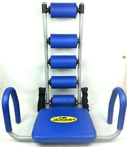 Ab Rocket Blue w/ Red Resistance Springs Abdominal Trainer Workout Exercise