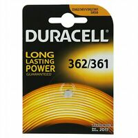 DURACELL Pila Batteria Bottone 362/361 SR58 D362/361 V362 1.5V Ossido di Argento