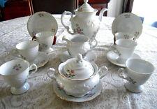 Wawel Vintage 17pc Posie Garden Tea Set  Made in Poland