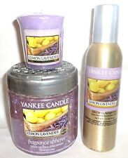 Yankee Candle LEMON LAVENDER Lot ~ FREE SHIPPING