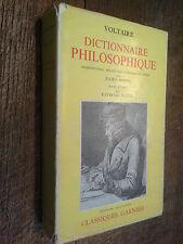 Dictionnaire philosophique Voltaire Garnier édition illustrée