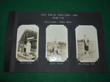 GIRL SCOUT - LOT OF 8 - 1926 GIRL SCOUT PHOTOS - REDDY LAKE CAMP - MICHIGAN