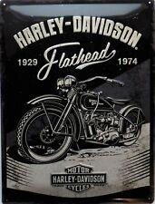 PLAQUE METAL vintage HARLEY DAVIDSON flathead - 40 x 30 cm