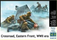 CROSSROAD , EASTERN FRONT WWII GERMAN & SOVIET INFANTRY #35190 1/35 MASTERBOX
