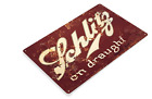 SCHLITZ BEER TIN SIGN ON DRAUGHT BEER THAT MADE MILWAUKEE FAMOUS GUSTO POWER