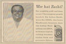 Y4924 Zahnpasta ODOL - Teddy Bill - Pubblicità d'epoca - 1927 Old advertising