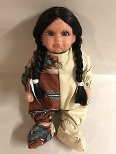 Native American Indian Girl Pouting Baby Doll Braids