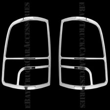 2 Chrome Tail Light Taillight Covers REAR Back For 2014 2015 2016 2017 DODGE Ram
