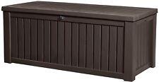 Keter Rockwood Plastic Deck Storage Container Box Outdoor Patio Garden 150 Gal,
