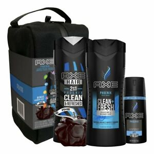 AXE Phoenix 5 PC Gift Set w/ Toiletry Shower Bag - New with tags