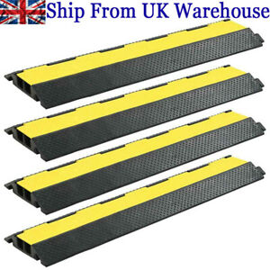 Cable Protector Ramp 1 /2 /3 Channel Rubber Floor Wire Road Cover Conduit Safety