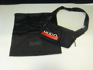 Hugo Boss Roteliebe Black Bumbag -3 Zipped Secure Compartments With Dust Jacket