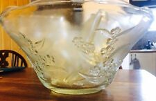Glass Punch Bowl With 12 Cups