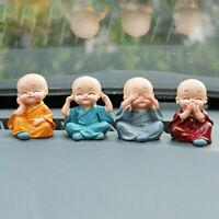 4pcs/set Four Little Monk Cute Doll Car Interior Accessories For Decoration C3L2