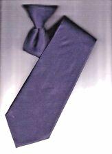 Men's Clip On Ties. Solid Navy.